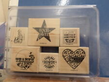 A little somethin rock star lovey dovey howdy    STAMPIN UP RUBBER STAMP 5C