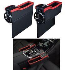 Car Seat Crevice Storage Box Caddy Gap Pocket & Cup Holder Phone Case Organizer
