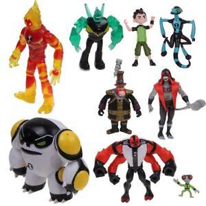 9 Stück Figuren XLR8 Quad vier Serie TV Ben 10 Packung Arm wild Spielzeug Kinder