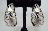 John Hardy PALU MACAN Hammered Sterling Silver Large Hoop Earrings 26.6g 925