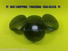 "4 New Black Center Caps For Dodge Charger 2.5"" 63mm Center Logo Cap Rim Emblem"