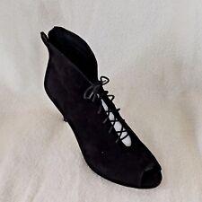DIANA FERARRI - Black Suede Peeptoe Bootie - Size 10 - BRAND NEW