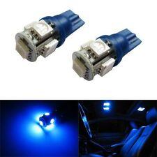 2 X Blue T10 W5W LED Number Plate Parking Light Bulbs Globes 912 921 168 501