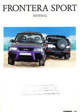 1995 Opel Frontera sport Mistral Original German Car Sales Brochure Folder