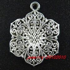 20pcs Tibetan Silver Filigree Charms 31.5x24mm 9401-1
