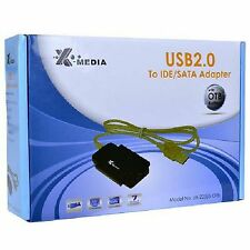 "X-Media XM-UB2235S USB 2.0 to 2.5"" 3.5"" IDE SATA Cable Adapter One Touch back up"