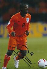 Clarence SEEDORF SIGNED Autograph 12x8 Photo AFTAL COA Holland KNVB Genuine