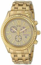 Citizen Eco-Drive Women's FB1362-59P Chronograph Gold-Tone Bracelet 40mm Watch