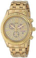 Citizen Eco-Drive Women's FB1362-59P Chronograph Purple Accents Yellow GoldWatch