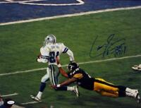 Larry Brown Autographed Dallas Cowboys 16x20 Running Photo W/ SB MVP- JSA W Auth