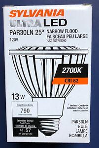 Sylvania 13W PAR30 Long Neck Ultra LED 2700K Dimmable Narrow Flood Light Bulb