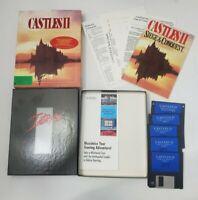 Castles II 2 Siege Conquest Interplay PC game. 1992 3.5 in discs plus inserts