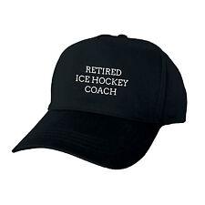 RETIRED ICE HOCKEY COACH PERSONALISED BASEBALL CAP GIFT RETIREMENT