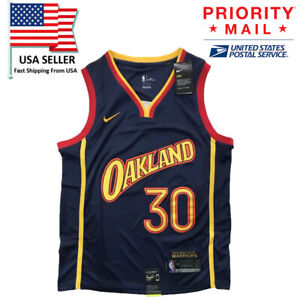 2020 2021 Stephen Curry Golden State Warriors Oakland Forever City Jersey Large