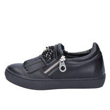 scarpe donna SARA LOPEZ 36 EU slip on nero pelle sintetica BX698-36