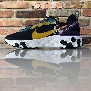 Nike React Element 55 Premium Mens Size 7 Shoes CI9593 002 Black Multicolor