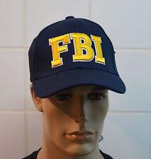 Casquette FBI 100% coton  bleu  brodé jaune   Réglable  série TV loisir soleil