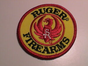 RUGER PHOENIX RIFLE PISTOL GUN HUNTING YELLOW & RED JACKET PATCH STYLE 1 NEW !