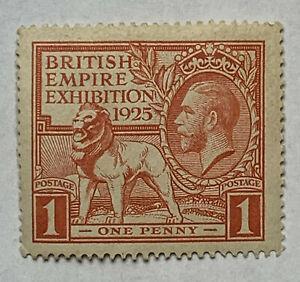 1925 BRITAIN MNH OG STAMP #203 BRITISH EMPIRE EXHIBITION KING GEORGE V LION