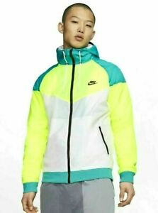 Nike Amplify Windrunner Mens Jacket Size M Volt Teal Nebula Black CW2312-716