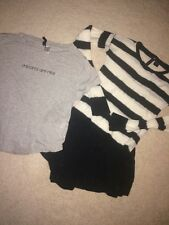 3pc Girls Set Black Mossimo Culotte Shorts+full tilt B/W Sweater+H&M Divided Tee