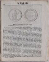 ALBUM DI ROMA 1843 MEDAGLIA NICOLA CERBARA ARCHIMEDE