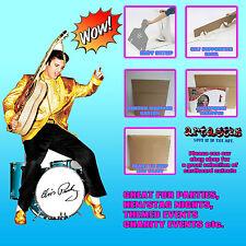 Chaqueta de Elvis Presley de oro y los tambores Lifesize cartón recorte pie levantado
