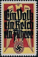 Stamp Replica Label Germany 0194 WWII National Socialism People Reich Fuhrer MNH