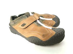 Teva 6557 Femme 8M Cuir Brun & Vert Daim à Enfiler Bateau Randonnée Marche Shoes