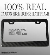 JDM 1 pc Black Carbon FIBER LICENSE PLATE FRAME HOLDER COVER FRONT/REAR H248