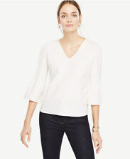 Ann Taylor - Large (12-14) Cream Winter White Fluted Sleeve Top $60.00 (H)