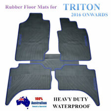Mitsubishi Triton MQ GLS GLX Dual Cab All Weather Rubber Car Floor Mats Blue