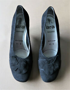 Good Quality Size 6.5 German Ara Black Suede Leather Shoes