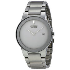 Citizen Eco Drive Axiom Grey Dial Stainless Steel Mens Watch AU1060-51A