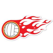 """Volleyball on fire car bumper sticker 5"""" x 3"""""""