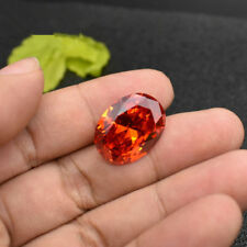 Beautiful Orange Sapphire Unheated 12.39Ct 12X16mm Oval Cut AAAAA Loose Gemstone