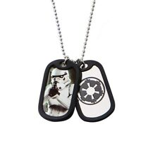 Star Wars Storm Trooper Double Dog Tag  Stainless Steel Chain Necklace