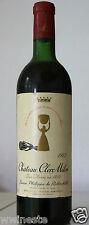 vin Bordeaux Pauillac Chateau CLERC MILON Rothschild 1972 rouge bouteille 75cl