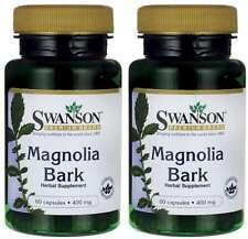 2X Magnolia Bark 400mg x 60 (120) Capsules -Stress & Appetite Control-Sleep Rest
