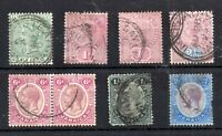 Jamaica QV-KGV used collection to 2/- WS14775