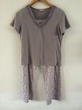 M&S Per Una guarnecido impresión Floral Pantalones Pijamas Jersey Top < R5377