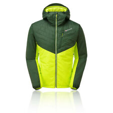 Montane Mens Prism Jacket Top - Green Sports Outdoors Full Zip Hooded Warm