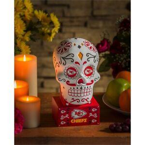 Kansas City Chiefs Sugar Skull Statue NFL - Free Ship Go Chiefs
