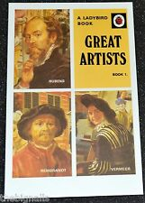 Ladybird Book Cover Postcard GREAT ARTISTS new