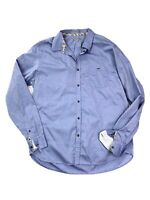 Ted Baker London Size 6 Button-up Shirt Blue Cotton Dots Women's