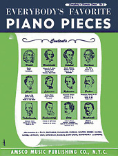 """Everybody's Favorite Piano Pieces"" PIANO SOLO MUSIC BOOK-BRAND NEW ON SALE-No.2"