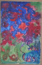 Guazzo Quadro Astratto 1972 HEL ENRI HÉLÈNE BERLEWI Arte Ingenuo Polacco #7