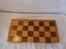 """Folding wooden  chess box/board. 15"""" by  7.3"""""""