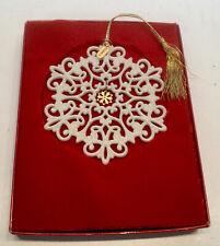 Lenox 1999 Snow Fantasies Snowflake Ornament With Box