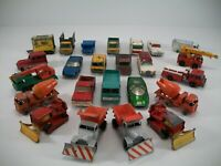 1960s Vintage Matchbox Cars - Scammell Snow Plough Ford Group 6 - 24 Car Lot